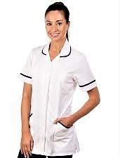 H/care tunics ladies WHITE