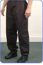 Chefs` black trousers